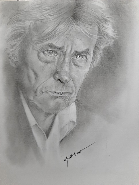 Alain Delon by Bobchew
